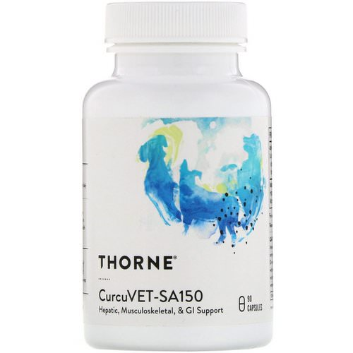 Thorne Research, CurcuVET-SA150, 90 Capsules فوائد