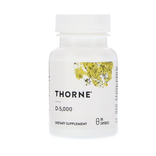 Thorne Research, D-5,000, 60 Capsules فوائد