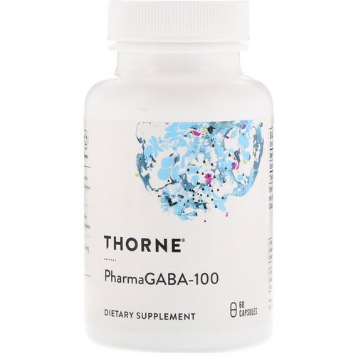Thorne Research, PharmaGABA-100, 60 Capsules فوائد