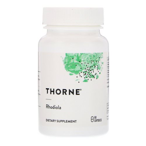 Thorne Research, Rhodiola, 60 Capsules فوائد