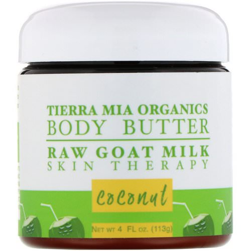 Tierra Mia Organics, Body Butter, Raw Goat Milk, Skin Therapy, Coconut, 4 fl oz (113 g) فوائد