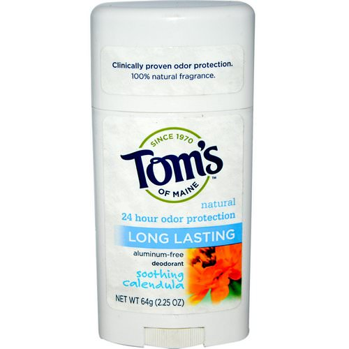 Tom's of Maine, Natural Long Lasting Deodorant, Aluminum-Free, Soothing Calendula, 2.25 oz (64 g) فوائد