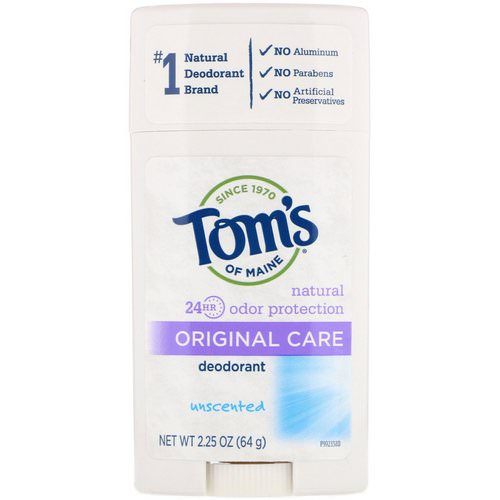 Tom's of Maine, Original Care Deodorant, Aluminum-Free, Unscented, 2.25 oz (64 g) فوائد