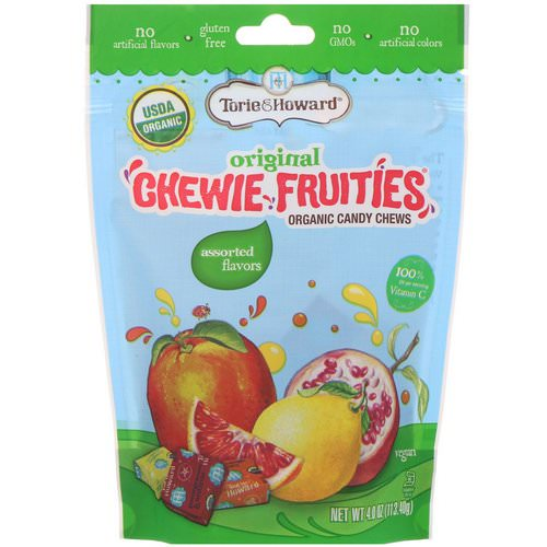 Torie & Howard, Organic Candy Chews, Original Chewie Fruities, Assorted Flavors, 4 oz (113.40 g) فوائد