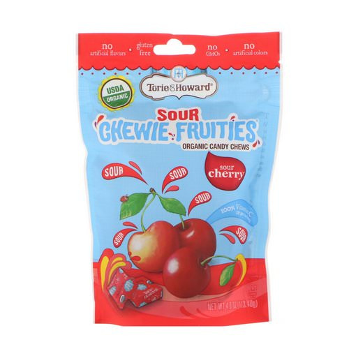 Torie & Howard, Organic, Sour Chewie Fruities, Sour Cherry, 4 oz (113.40 g) فوائد