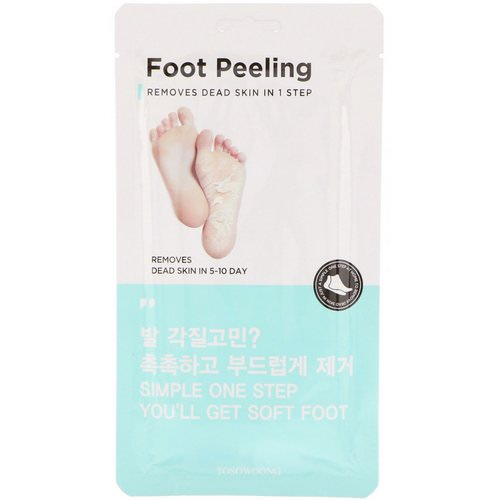 Tosowoong, Foot Peeling, Size Regular, 2 Pieces, 20 g Each فوائد