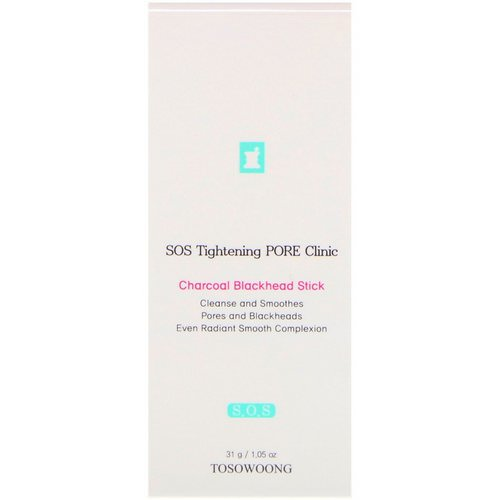 Tosowoong, SOS Tightening Pore Clinic Charcoal Blackhead Stick, 1.05 oz (31 g) فوائد