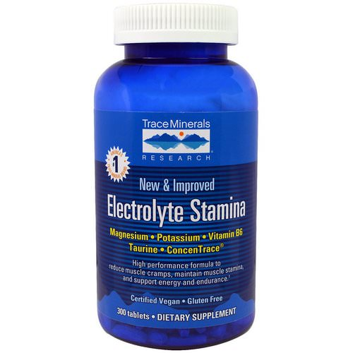 Trace Minerals Research, Electrolyte Stamina, 300 Tablets فوائد
