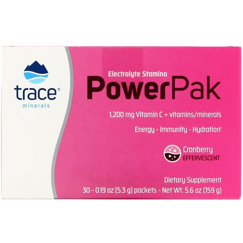 Trace Minerals Research, Electrolyte Stamina Power Pak, Cranberry, 30 Packets, 0.19 oz (5.3 g) Each فوائد