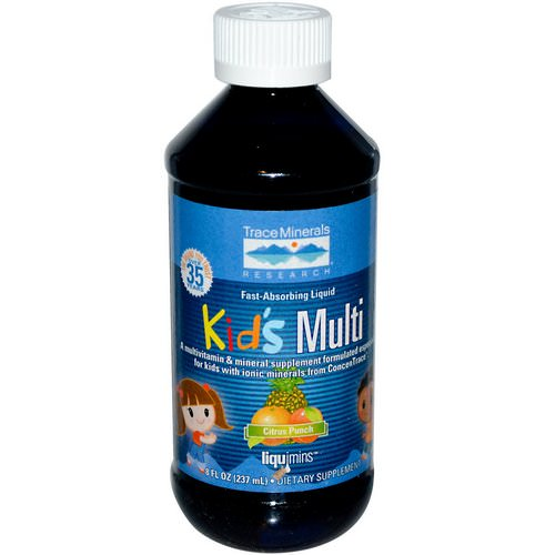 Trace Minerals Research, Kid's Multi, Citrus Punch, 8 fl oz (237 ml) فوائد