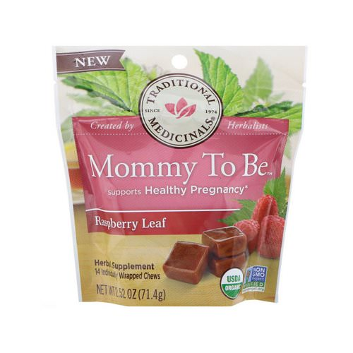 Traditional Medicinals, Organic, Mommy to Be, Raspberry Leaf, 14 Individually Wrapped Chews, 2.52 oz (71.4 g) فوائد