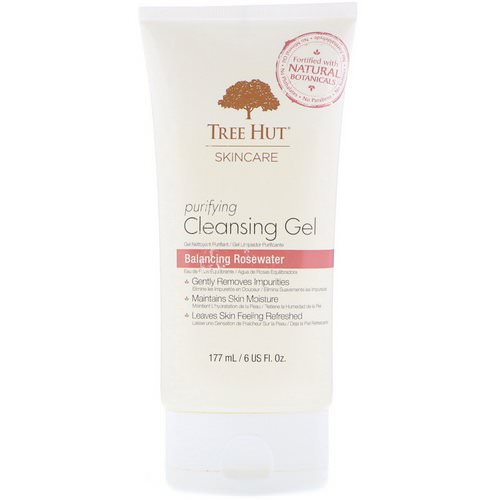 Tree Hut, Skincare, Purifying Cleansing Gel, Balancing Rosewater, 6 fl oz (177 ml) فوائد