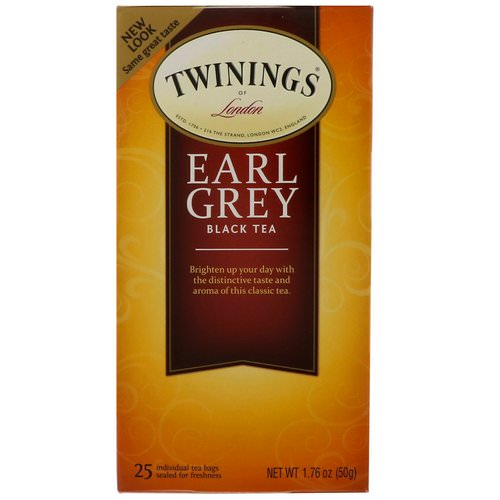 Twinings, Earl Grey Black Tea, 25 Tea Bags, 1.76 oz (50 g) فوائد