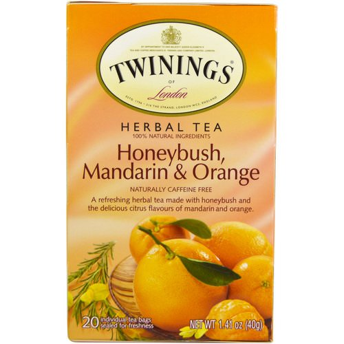 Twinings, Herbal Tea, Honeybush, Mandarin & Orange, Caffeine Free, 20 Individual Tea Bags, 1.41 oz (40 g) فوائد