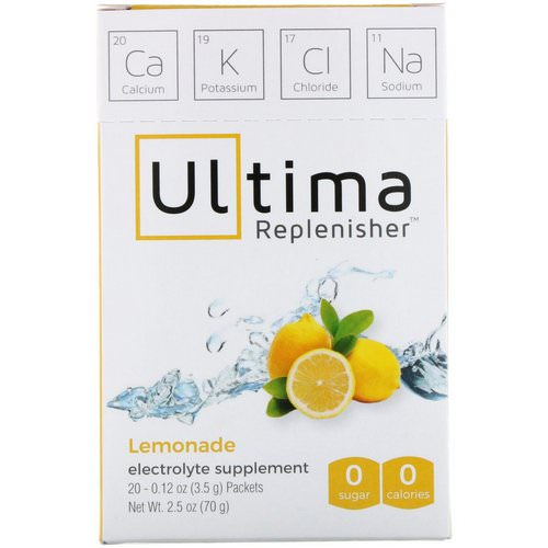 Ultima Replenisher, Electrolyte Powder, Lemonade, 20 Packets, 0.12 oz (3.5 g) Each فوائد