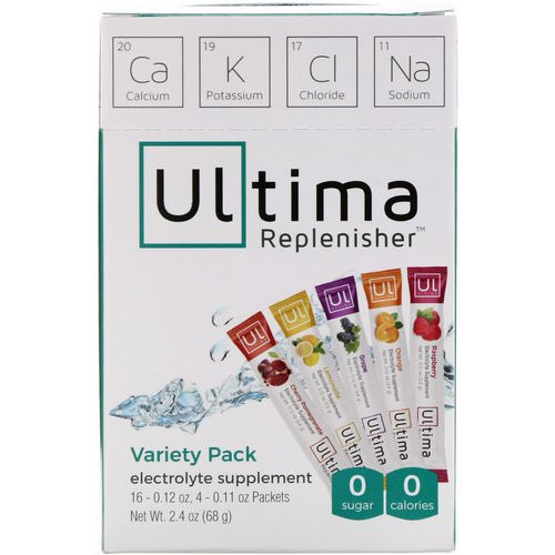 Ultima Replenisher, Electrolyte Supplement, Variety Pack, 20 Packets, 2.4 oz (68 g) فوائد
