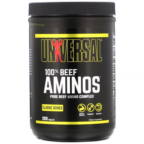 Universal Nutrition, 100% Beef Aminos, 200 Tablets فوائد