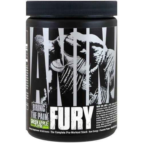 Universal Nutrition, Animal Fury, Green Apple, 82.65 g فوائد