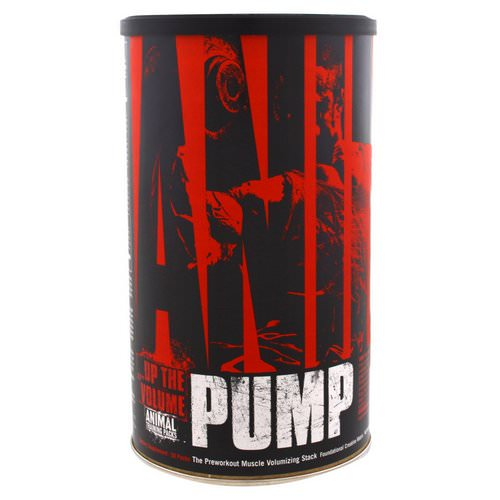 Universal Nutrition, Animal Pump, The Preworkout Muscle Volumizing Stack, 30 Packs فوائد