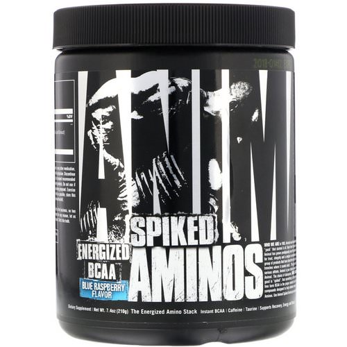 Universal Nutrition, Animal Spiked Aminos, Blue Raspberry, 7.4 oz (210 g) فوائد