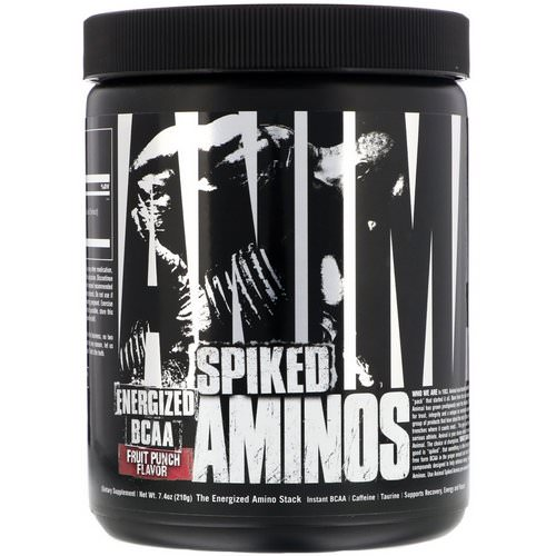 Universal Nutrition, Animal Spiked Aminos, Fruit Punch, 7.4 oz (210 g) فوائد