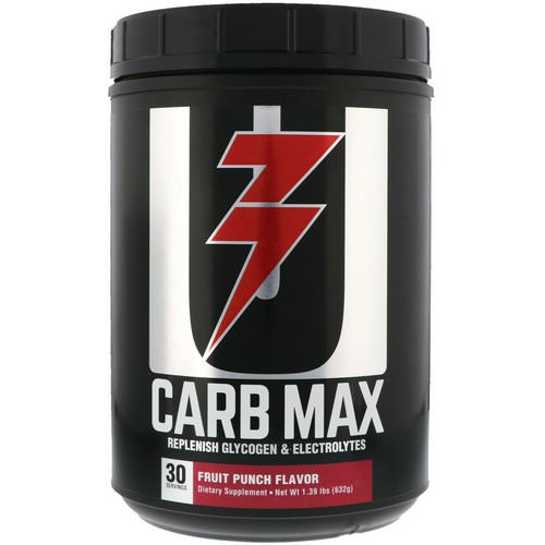 Universal Nutrition, Carb Max, Replenish Glycogen & Electrolytes, Fruit Punch, 1.39 lb (632 g) فوائد