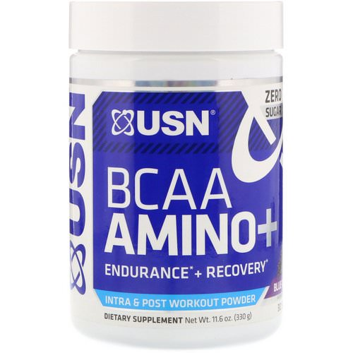 USN, BCAA Aminos Plus, Blue Raspberry, 11.6 oz (330 g) فوائد