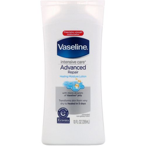 Vaseline, Intensive Care, Advanced Repair Healing Moisture Lotion, Unscented, 10 fl oz (295 ml) فوائد