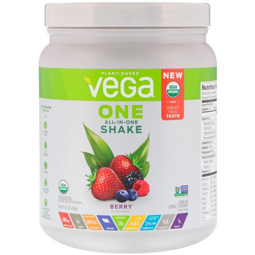 Vega, One, All-in-One Shake, Berry, 12.1 oz (344 g) فوائد