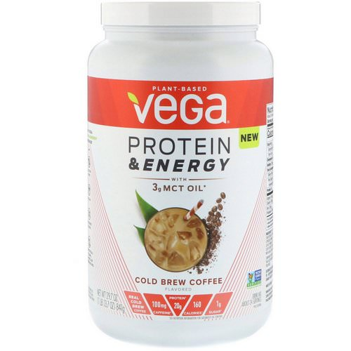 Vega, Protein & Energy, Cold Brew Coffee, 1.85 lbs (841 g) فوائد