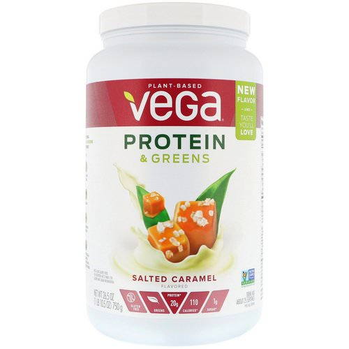 Vega, Protein & Greens, Salted Caramel, 1.65 lbs (750 g) فوائد