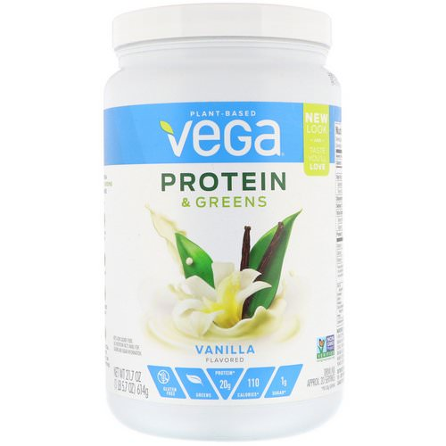 Vega, Protein & Greens, Vanilla Flavored, 1.35 lbs (614 g) فوائد