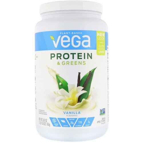 Vega, Protein & Greens, Vanilla Flavored, 1.67 lbs (760 g) فوائد