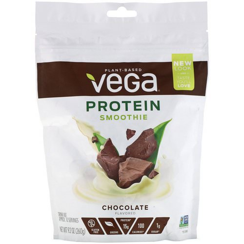 Vega, Protein Smoothie, Chocolate Flavored, 9.2 oz (260 g) فوائد