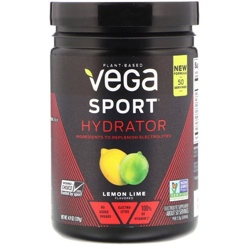 Vega, Sport, Hydrator, Lemon-Lime, 4.9 oz (139 g) فوائد