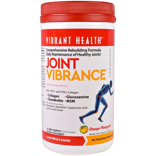 Vibrant Health, Joint Vibrance, Version 4.3, Orange Pineapple, 12.96 oz (367.5 g) فوائد