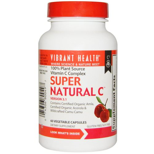 Vibrant Health, Super Natural C, Version 3.1, 60 Veggie Caps فوائد