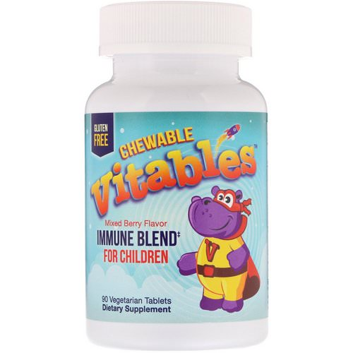 Vitables, Immune Blend Chewables for Children, Mixed Berry, 90 Vegetarian Tablets فوائد