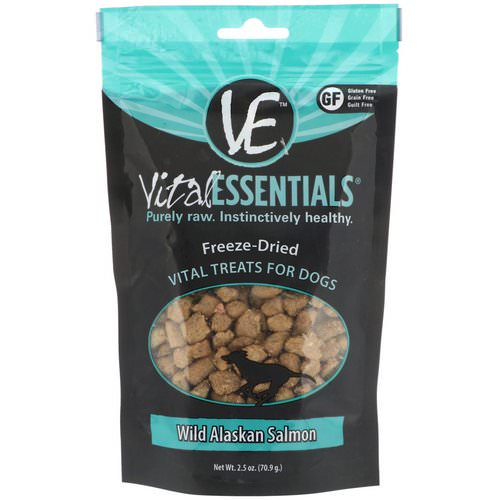 Vital Essentials, Freeze-Dried Treats For Dogs, Wild Alaskan Salmon, 2.5 oz (70.9 g) فوائد