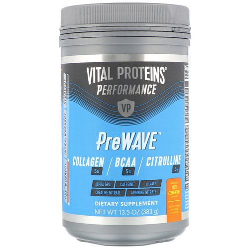 Vital Proteins, Performance, PreWave, Natural Yuzu Clementine, 13.5 oz (383 g) فوائد
