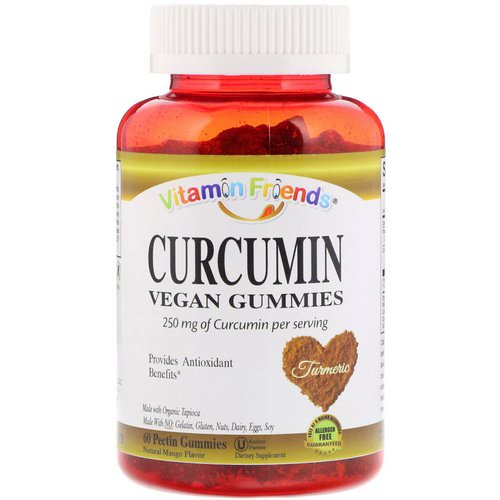 Vitamin Friends, Curcumin, Vegan Gummies, Natural Mango Flavor, 60 Pectin Gummies فوائد
