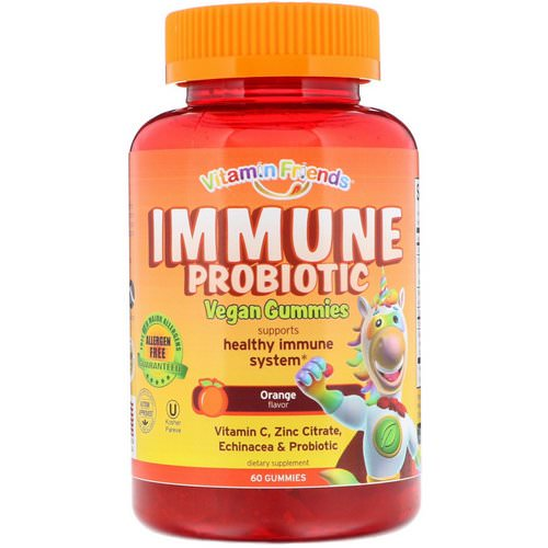 Vitamin Friends, Immune Probiotic Vegan Gummies, Orange, 60 Gummies فوائد