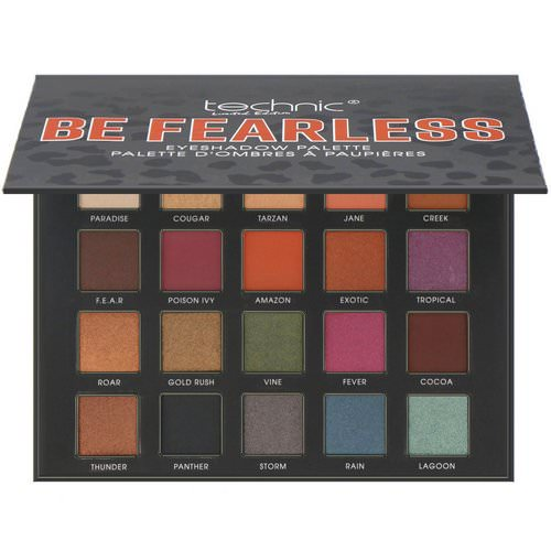 W7, Technic, Limited Edition, Be Fearless, Eye Shadow Palette, 0.56 oz (16 g) فوائد