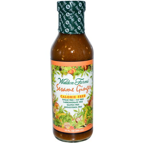 Walden Farms, Sesame Ginger Dressing, 12 fl oz (355 ml) فوائد