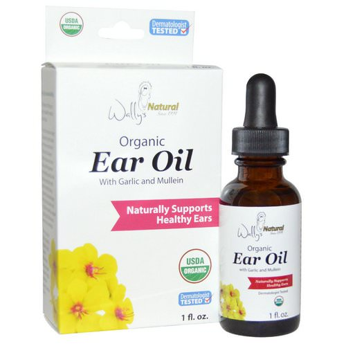 Wally's Natural, Organic Ear Oil with Garlic and Mullein, 1 fl oz فوائد