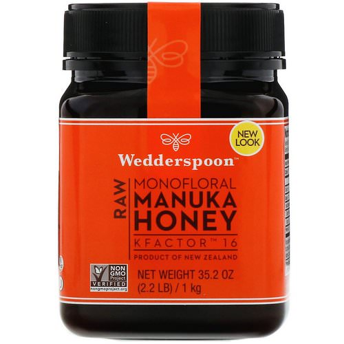 Wedderspoon, Raw Monofloral Manuka Honey, KFactor 16, 2.2 lb (1 kg) فوائد