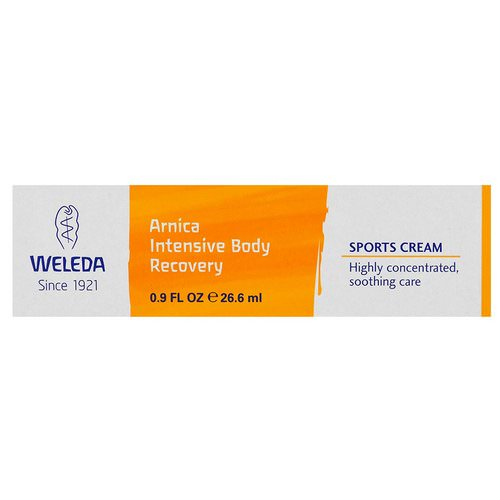 Weleda, Arnica Intensive Body Recovery, Sports Cream, 0.9 fl oz (26.6 ml) فوائد