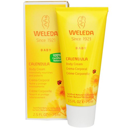 Weleda, Baby Body Cream, Calendula, 2.5 fl oz (75 ml) فوائد