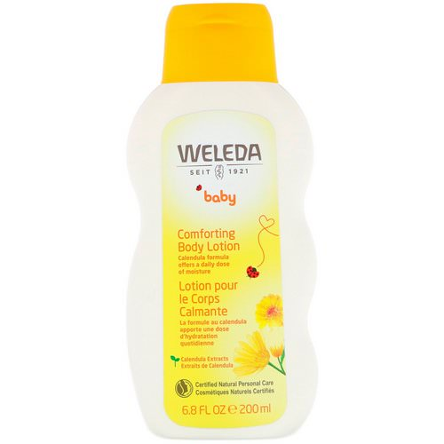 Weleda, Baby, Comforting Body Lotion, Calendula, 6.8 fl oz (200 ml) فوائد