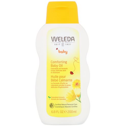 Weleda, Comforting Baby Oil, Calendula, 6.8 fl oz (200 ml) فوائد